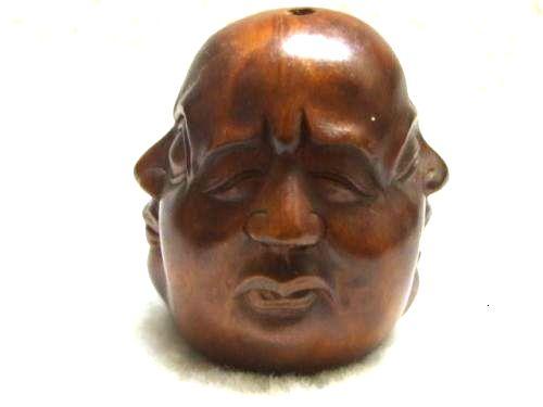 Boxwood Wood Handcrafted Carving Netsuke cute mice figurine