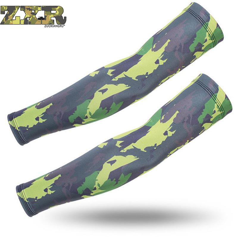 Camouflage Cs Military Sleeve Sunscreen Arm Warmer Men Women Long Arm Cuff Outdoor Workout Sleeve Armguard Arm Warmers