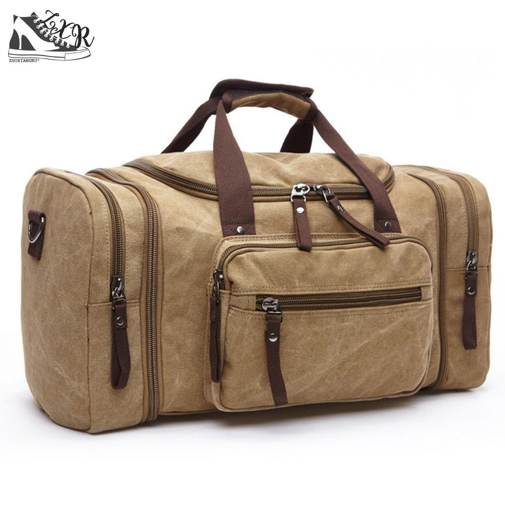 Canvas Men Travel Bags Carry On Luggage Bags Men Women Duffel Bag Travel Tote Large Weekend Bag Overnight High Capacity mealivos men travel bag for luggage overnight travel bag carry on duffel with shoe pouch duffel bags big weekend bags
