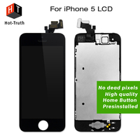 E Trust 10PCS LOT Black White Color LCD Display For IPhone 5 Touch Screen Digitizer Assembly