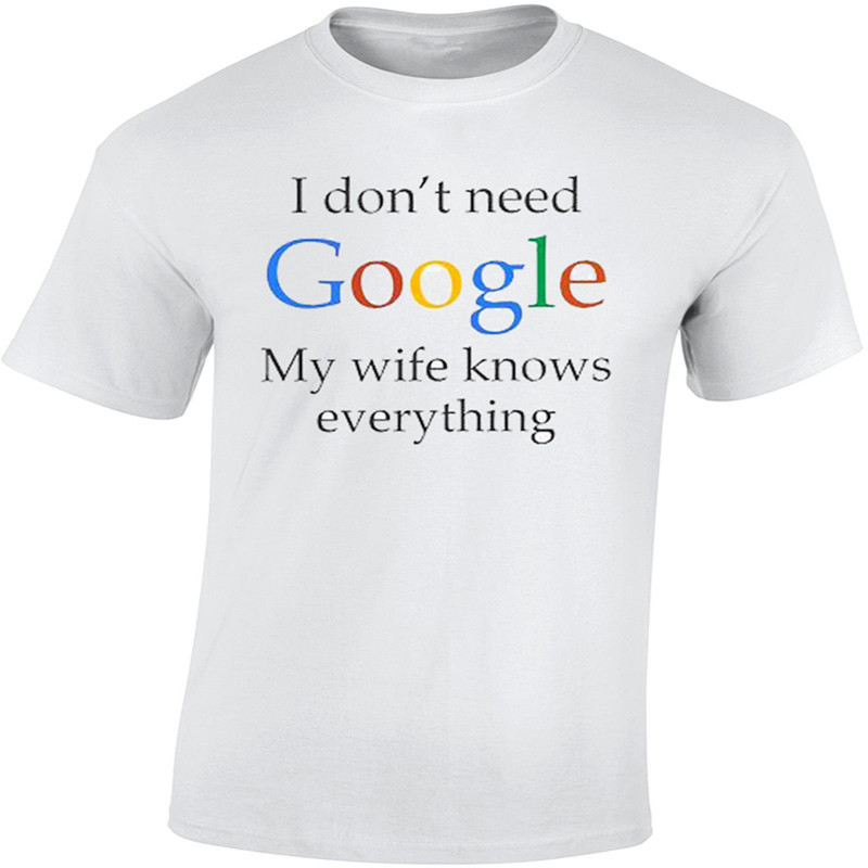 Size Of T Shirt Design Google Search: 2017 Newest Mans T Shirt Simple Summer Logo Google My Wife