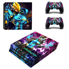 Game For Overwatch PS4 Pro Skin Sticker and 2 Controllers PS4 Pro Skin Stickers Decal Vinyl