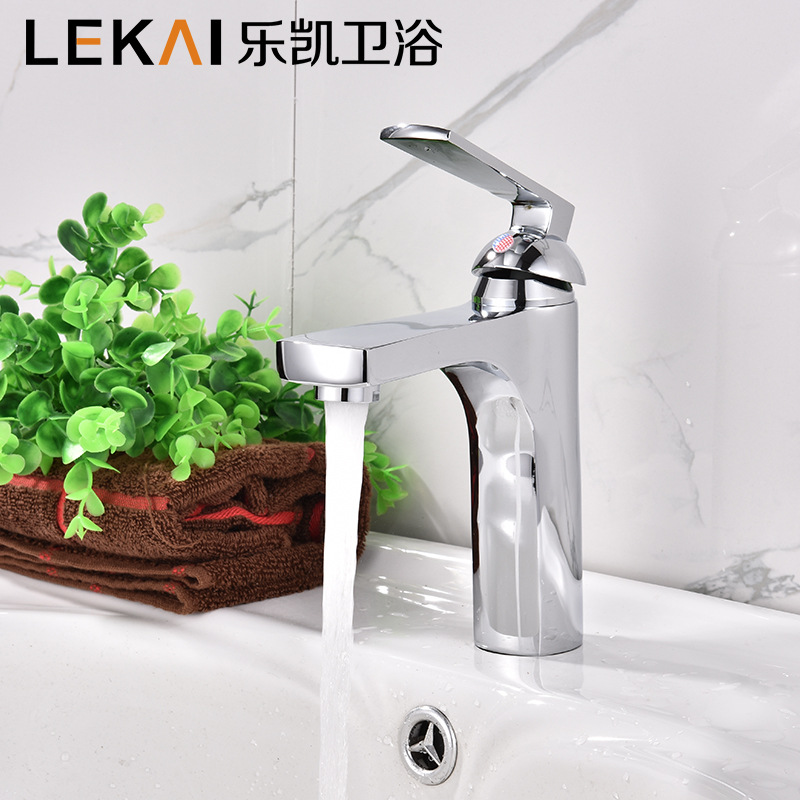 Basin hot and cold single hole faucier wash basin hot and cold mixing faucet manufacturers wholesale