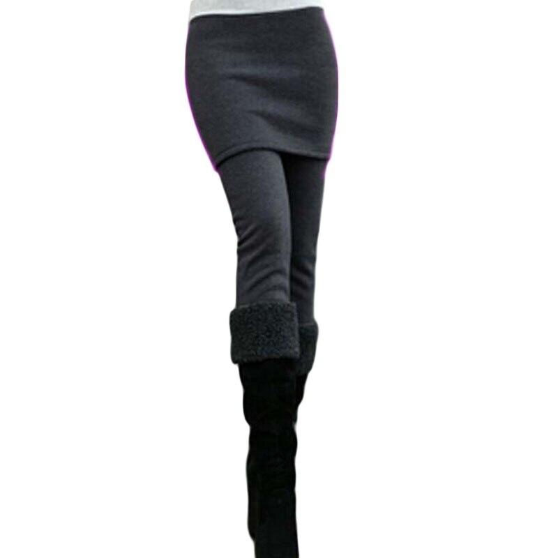 Plus SIze Stretch Inverted Cashmere Skirt Leggings Plus Thick Velvet Warm Trousers Boots Pants Calzas Leggins 2016 BG547