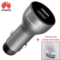 Original Huawei Car Supercharge Fast Quick Charger Mate 9 10 20 X P10 Plus P20 Pro Type C Type c Cable Honor 8 9 V9 V10 View 10