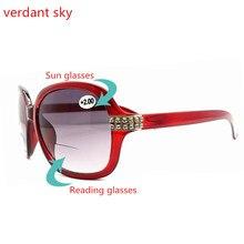 Многофункциональный Очки для чтения 2017, Новая мода Для мужчин и женщин Бизнес Солнцезащитные очки для женщин очки пилота Защита от солнца Очки УФ-защита