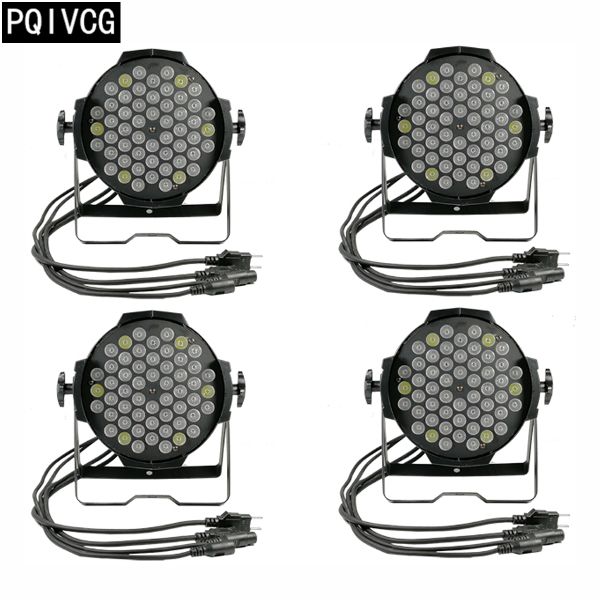 4pcs/54x3w led rgbw par light flat par dmx par led light hand in hand par lights 2017 factory price big discount 180w high power led par light 54x3w rgbw single color led flat par lights 90 240v new design