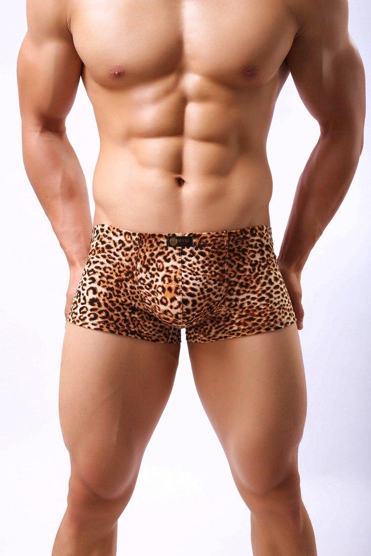 Underwear Boxer Trunk Shorts-Size Penis Leopard-Print Sexy Men's Brands Fashion XXL Trigonal