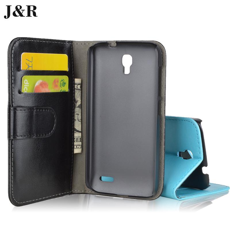 78a895e361104 J R Brand Wallet Stand Leather Case For Alcatel One Touch Pop 2 4.5 5042  5042X 5042D 5042A 5042W 5042E Cover with ID Card Holder
