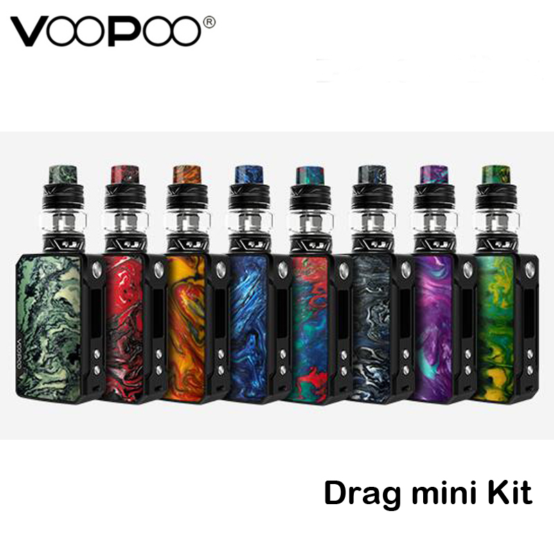 Original Voopoo Drag mini Kit 177W Drag mini Box MOD 4400mah Vape Battery Uforce T2 SubOhm