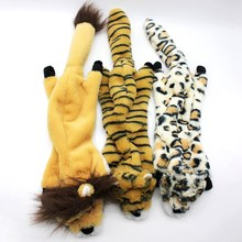 Cute Tiger Leopard Lion Animals Pet Chew Squeaker Dog Teeth Toy Soft DogToy Bite Resistant Toy(China)