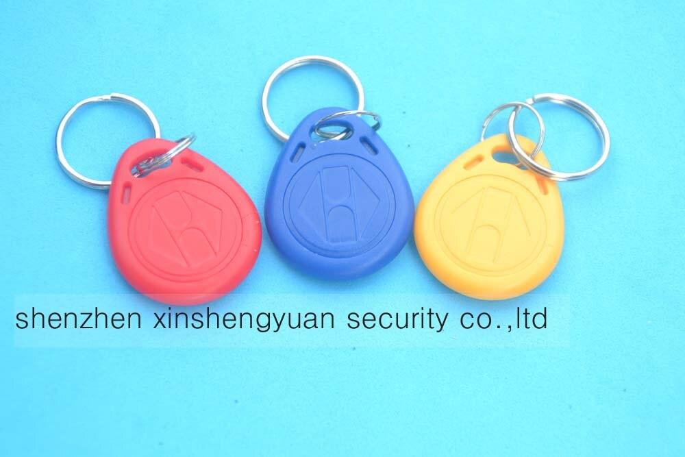 10pcs/Lot 125Khz TK4100 RFID Tag Proximity ID Token Tag Key Fob Access Control Red Yellow Blue