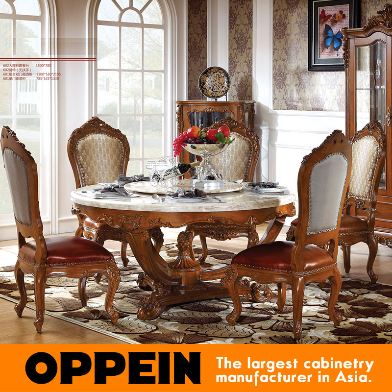 french style marble round dining table with carving mainland