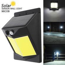 96 COB 400LM LED Solar Sensor Wall Light Bulb Outdoor Garden Lamp  Solar Motion Sensor Night Security Wall Light for Outdoor