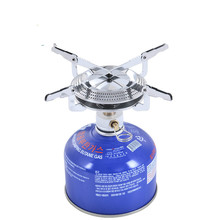Outdoor camping barbecue portable disc furnace head  propane gas stove burner canister isobutane camp tent heater