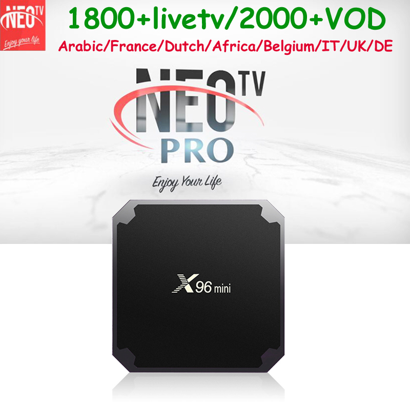 Best HD 4K Android 7 1 TV Box X96 mini No Monthly fee free France Arabic