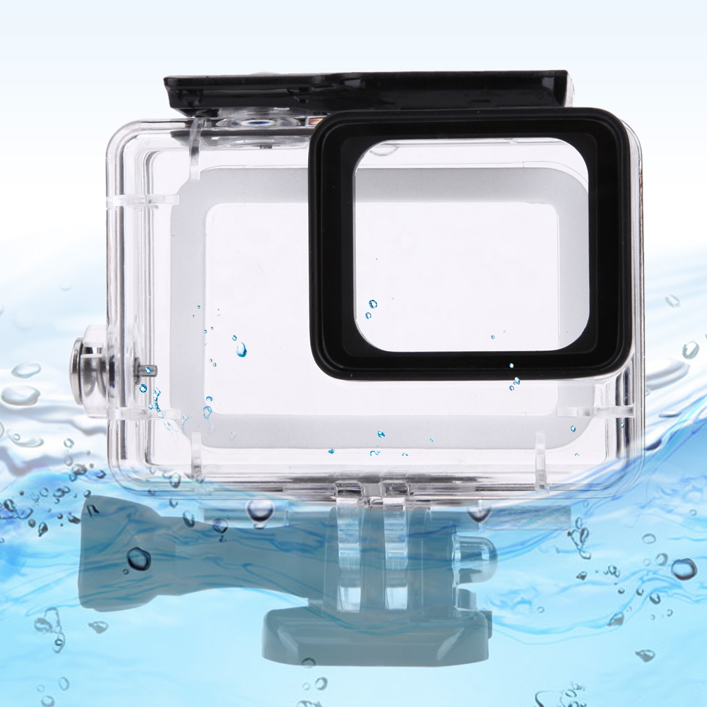 Transparent 45m Waterproof Housing Frame Shell Underwater Diving Case Red Filter with Mount Adapter for Gopro