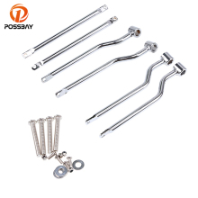 POSSBAY 1 Set Steel Motorcycle Saddlebag Support Bar Mounting Bracket Kit Universal For Frame Saddle Bag Mount Brackets