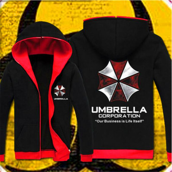 3323f6f83 2017 moletom com capuz Resident Evil Cosplay Traje Com Capuz Brasão Jacket  Moda Unissex Hoodies Camisola Biohazard Umbrella Corporation