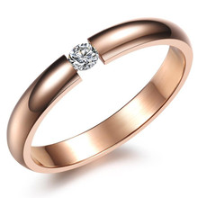 цена на Simple Classic Crystal woman Ring Rose Gold/White/Black Plated Wedding Ring with AAA Cubic Zirconia girl jewelry gift