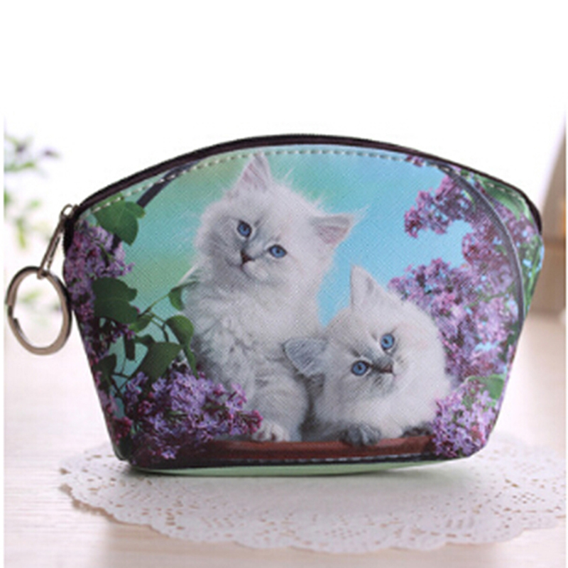 Cat Coin Purses Women Wallets Small Cute Cartoon Animal Card Holder Key Bag Money Bags for Girls Ladies Kids Children Purse cute cartoon animal cat silicone key holder case bag wallet pendant 9xrx