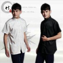 Chino Tradicional juego de La Espiga de Los Hombres de Oriente Tops Camisas para Hombres Hanfu Oriental Blusa Cheongsam Ropa de Estilo Vintage