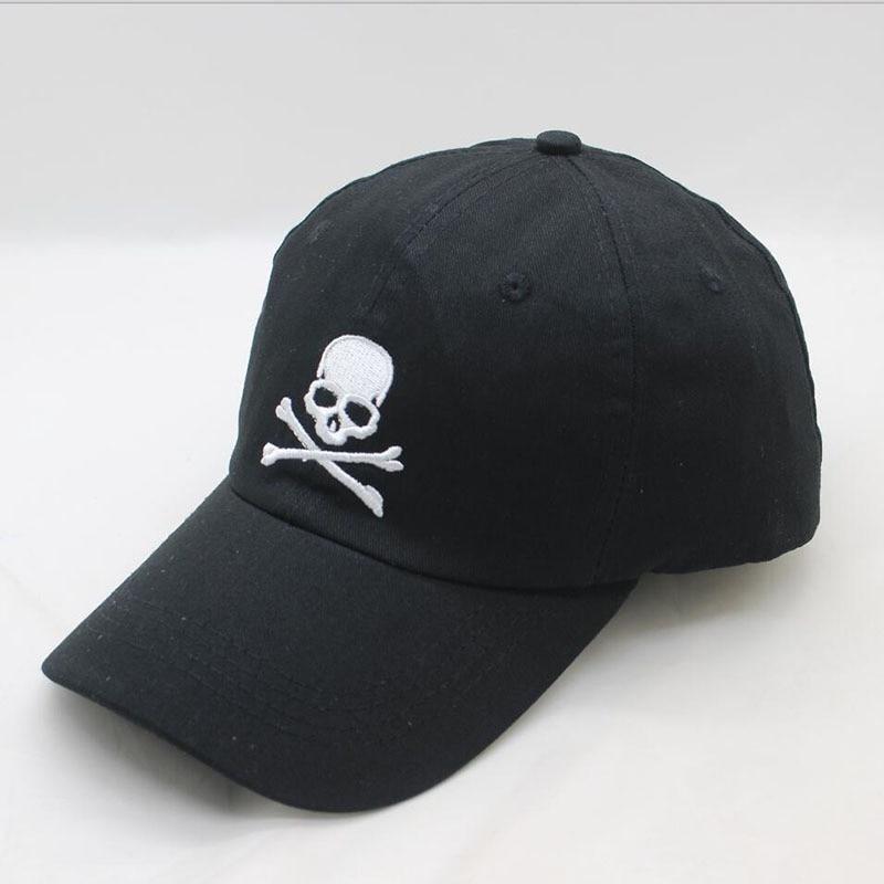 LDSLYJR 2018 cotton skull embroidery   Baseball     Cap   Adjustable Snapback   cap   for men and women 438