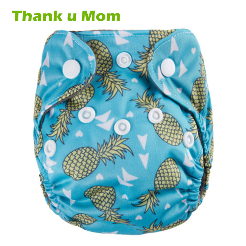 Thank U Mom Newborn Cloth Diapers Pocket For 0-3 Monthes Charcoal Bamboo Preemie Baby Reusable Cloth Nappies Super Cute Prints