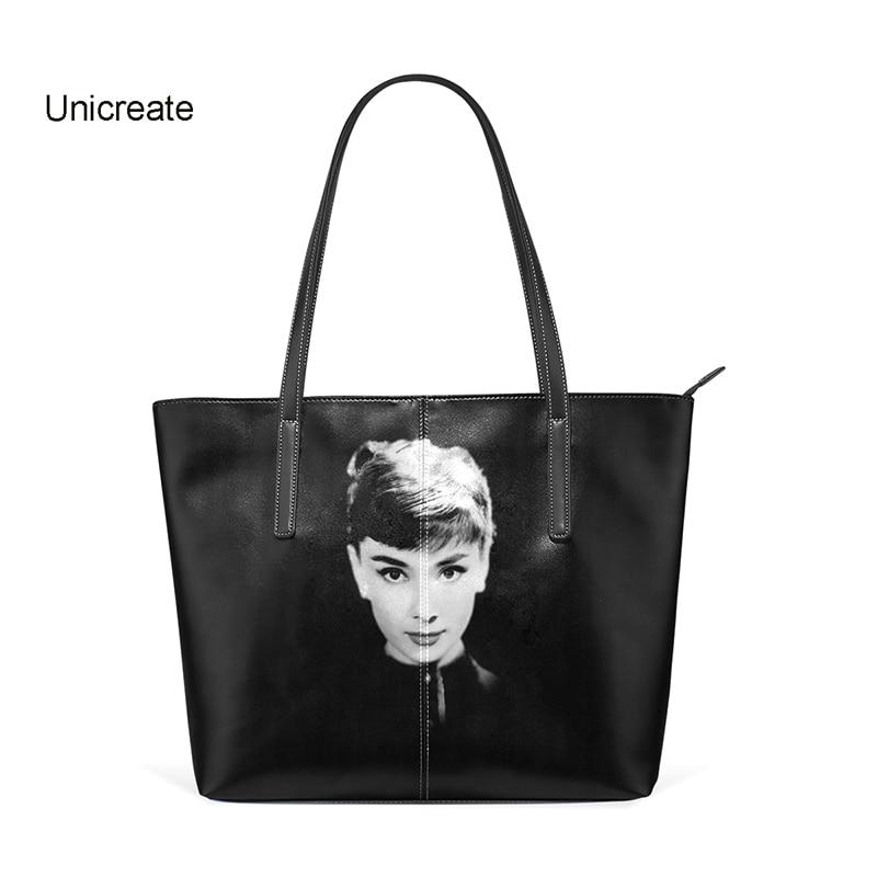 Shoulder Bag Handbag Audrey Hepburn Women Girls Bookbag Pu Leather Large Capacity Top-handle Bag Modern Lady Black Shoulder Bag все цены