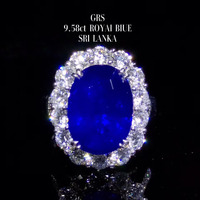 fine jewelry factory classic luxury 18k gold South Africa real diamond 9.58ct natural blue sapphire gold ring for women wedding