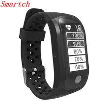 Smartch GPS смарт-браслет S908 Поддержка Smart уведомления Обнаружение активности Шагомер сердечного ритма умный Группа фитнес трекер
