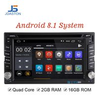 JDASTON Android 8.1 Car Multimedia Player For Peugeot 307 Nissan Volkswagen Passat Toyota 2 Din Car Radio 2G+16G GPS CD DVD WIFI