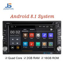 JDASTON Android 8.1 Car Multimedia Player Per Peugeot 307 Nissan Volkswagen Passat Toyota 2 Din Auto Radio 2G + 16G CD DVD GPS WIFI