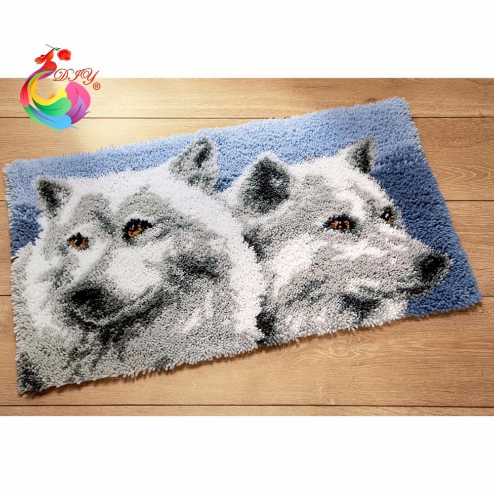 Latch krokfodral kits stickor nål krokar krokar Filt Craft Carpets - Konst, hantverk och sömnad