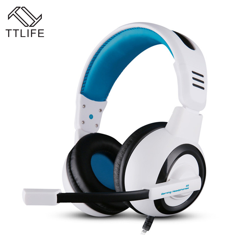 TTLIFE Brand Professional Gaming Headphone with Microphone Stereo Bass Headset Over Ear 3.5mm Wired Earphone for Computer