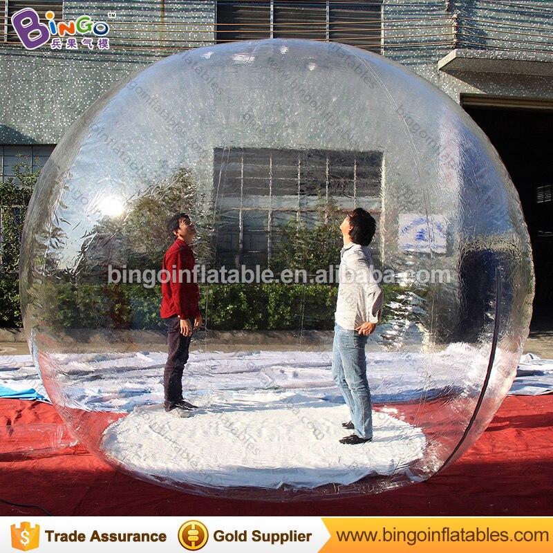 Boule à neige gonflable personnalisée de 3 mètres/boule à neige personnalisée gonflable de 10 pieds/jouets gonflables transparents de noël de boule