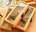 Бесплатная доставка Деревянный карандаш деревянная коробка прекрасный школьный пенал для студентов сувенир Канцтовары для друзей