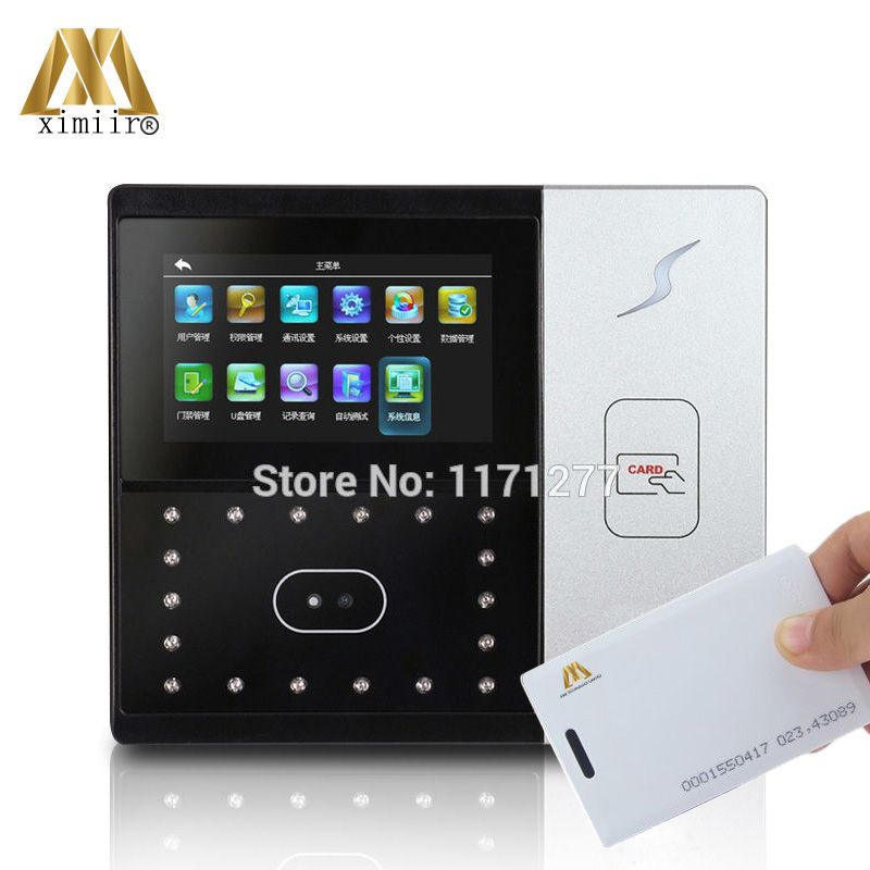 Good Quality ZK Iface701 Facial Recognization 125KHz RFID Card Time Attendance And Access Controller