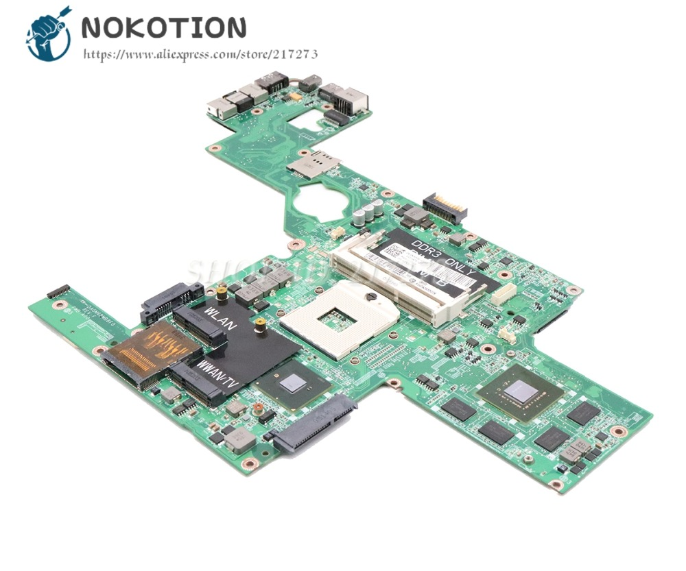 NOKOTION Laptop Motherboard For Dell XPS L501X Main Board DAGM6BMB8F0 CN-0NWF36 0NWF36 GT435M 2G graphics original usb ethernet hdmi board for dell xps one 2710 09r92h 9r92h cn 09r92h 100