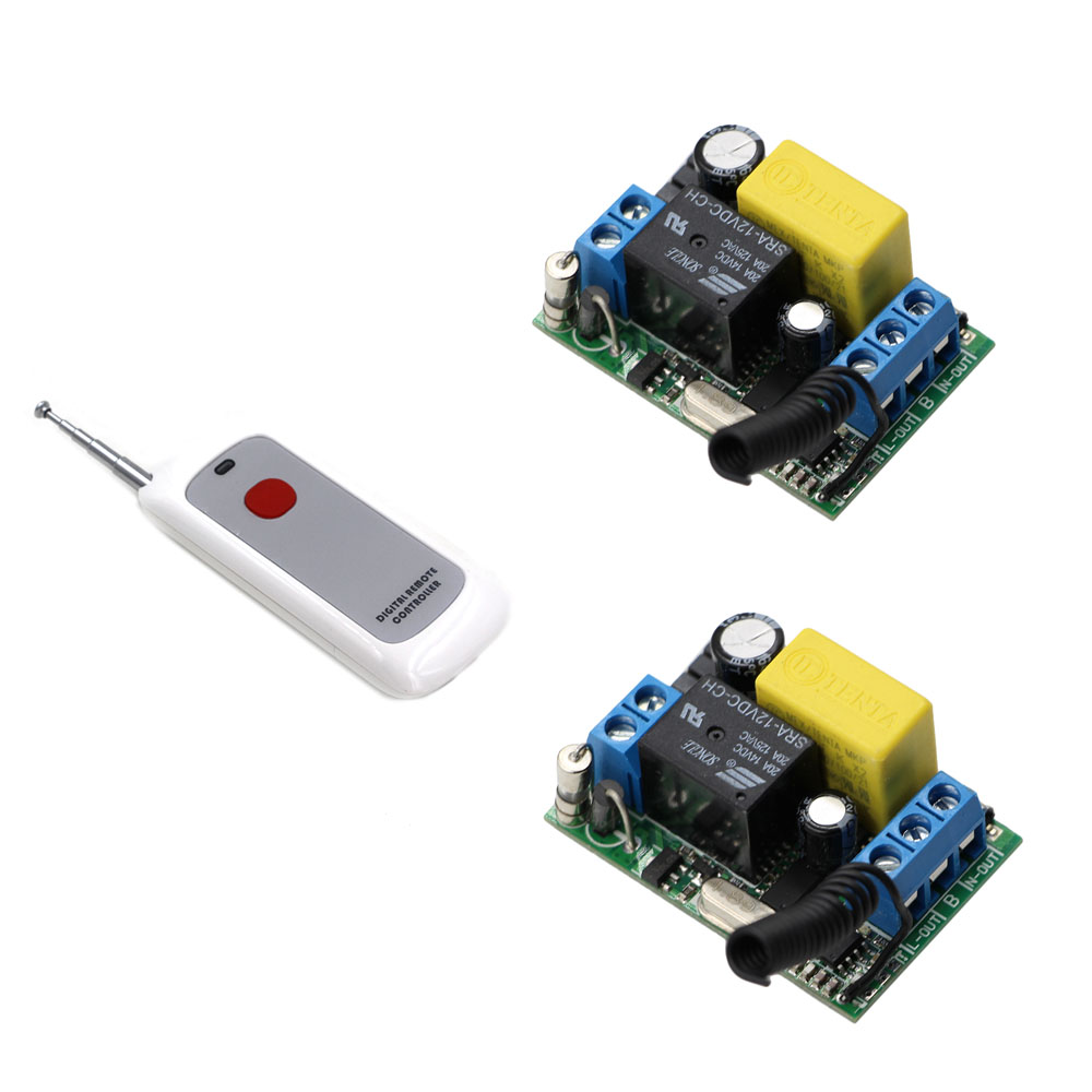 Hot Sale AC220V 1CH RF Wireless Remote Control Switch System Receiver & Transmitter Input Output 220V For Water Pump & Motor 6 pieces receiver 220v wireless remote control switch lamps water pump motor controller switch remote control switch