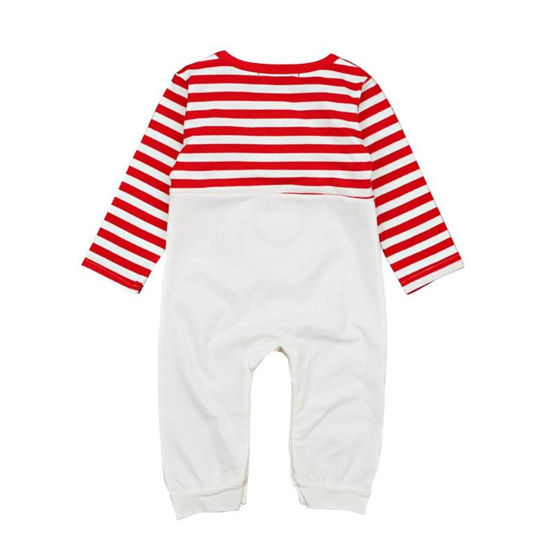 7616b09fdf1 Christmas Newborn Baby Cute Elk Stripe Long Sleeve Rompers O-Neck Jumpsuit  Unisex Cotton Clothing