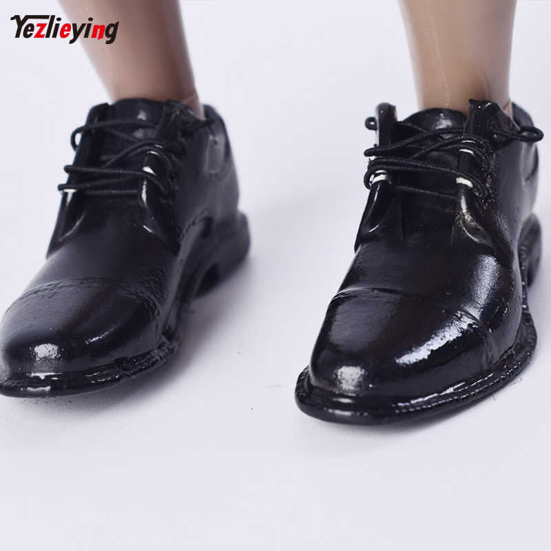 TopToys 16 Scale Clothing accessories VERYCOOL VC M3005 16 Mens Fashion Shoes Black Laced W Feet Inside F 12