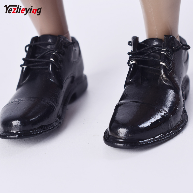 TopToys 1/6 Scale Clothing accessories VERYCOOL VC M3005 1/6 Mens Fashion Shoes Black Laced W Feet Inside F 12 Male Figure
