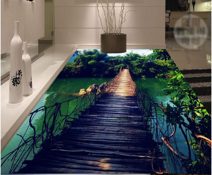 Zelfklevende Bamboe Vloer : Vloer vinyl tegel moderne custom d muurschilderingen d vloeren