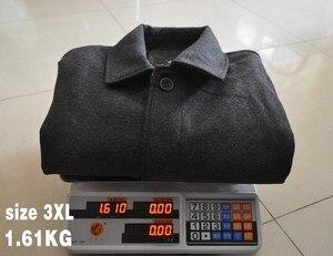 Image 5 - Mu Yuan Yang hommes veste dhiver laine Style britannique plus longue Section laine hommes veste matelassée chaud simple boutonnage laine et mélanges