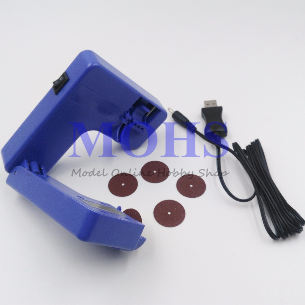 Image 3 - Scale RC Model Tools Series TRUMPETER 09952  ELECTRIC CUTTER 09952 Built in Li Po battery USB Charger w/emery cutter DIY Toolsmodeling toolsscale model toolstrumpeter model -