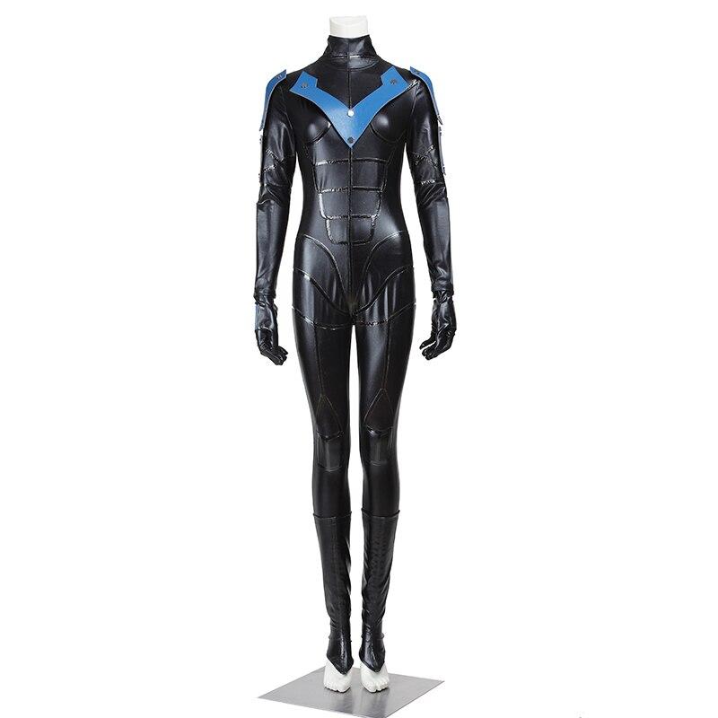Batman Nightwing Cosplay Costume Arkham City Cosplay Femmes Version Tenue Salopette Adulte Halloween Superhero Party Custom Made