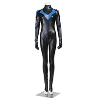 Batman Nightwing Cosplay Costume Arkham City Cosplay Women Version Outfit Jumpsuit Adult Halloween Superhero Party Custom Made