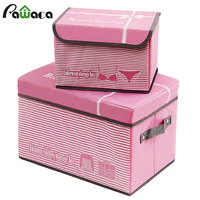 2pcs Clothing Storage Box Set Toys Organizer Cosmetic Makeup Containers Closet Divider Socks Books Sundries Storage