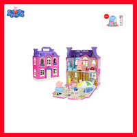 Peppa Pig Figures Toys villa Scenes Play House Toys PVC Action Figures Family Member Peppa Pig Toy Baby Kid Birthday Gift